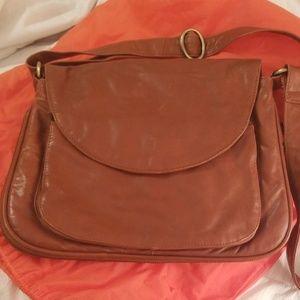Latico Brown Leather Crossbody Purse
